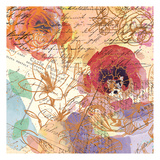Postage Rose 1 Poster by Kimberly Allen