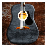 Rustic Acoustic Guitar Prints by Jace Grey