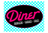 Diner Bright Poster by Jace Grey