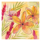 Sunset Plumeria II Posters by Beverly Dyer