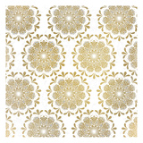 Mandala Pattern in Gold Print by Kimberly Allen