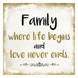 Family Love Print by Kimberly Allen