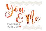 Wedding Typo Lace 4 Prints by Melody Hogan