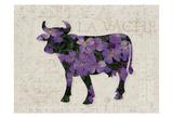Flower Farm Bull Art by Melody Hogan