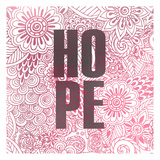 Pink Hope Posters by Kimberly Allen