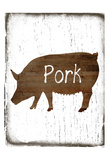 Pork Butcher Block Prints by Sheldon Lewis