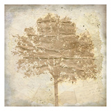 Tree Silhouette Gold Craft 1 Posters by Kimberly Allen