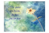 The Quieter You Become Art by Debbie Pearson