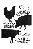 Local Eggs Meat Milk Prints by Sheldon Lewis