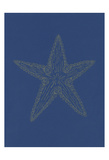 Glowing Indigo Starfish Prints by Pam Varacek
