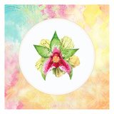 Tropical Floral Square 2 Posters by Kimberly Allen