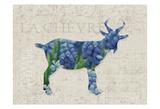 Flower Farm Goat Poster by Melody Hogan