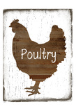 Poultry Butcher Block Poster by Sheldon Lewis