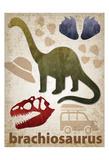 Brachiosaurus Dinosaur Posters by Melody Hogan