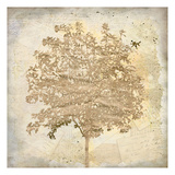 Tree Silhouette Gold Craft 2 Posters by Kimberly Allen