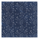 Vintage Indigo Floral Poster by Kimberly Allen