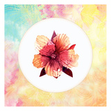 Tropical Floral Square 1 Prints by Kimberly Allen