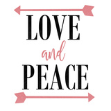 Love and Peace Arrow Print by Jelena Matic