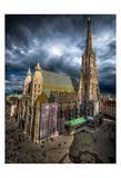 Vienna Cathedral Print by Vladimir Kostka