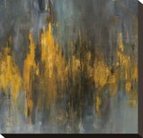 Black and Gold Abstract Stretched Canvas Print by Danhui Nai