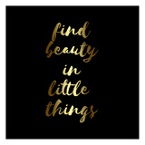 Find Beauty Black Gold Print by Jelena Matic