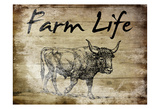 Farm Life Bull Poster by Sheldon Lewis