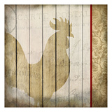Damask Rooster 2 Prints by Kimberly Allen