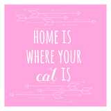Home Cat Prints by Jelena Matic