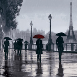Paris Red Umbrella Prints by Robert Canady