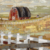 Long Barn - Paddock Print by Mark Chandon
