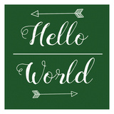 Hello World Green Posters by Jelena Matic