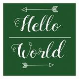 Hello World Green Prints by Jelena Matic