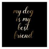 Best Friend Dog Art by Jelena Matic