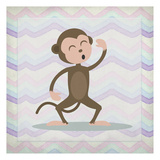 Pink Monkey Time Posters by Kimberly Allen