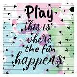 Play Happens Print by Jelena Matic