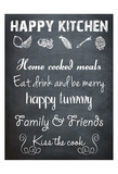 Happy Kitchen Posters by Sheldon Lewis