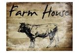 Farm House Bull Prints by Sheldon Lewis