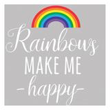 Rainbow Happy Poster by Jelena Matic