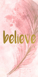Believe Feathered Posters by Kimberly Allen