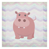 Pink Hippo Time Posters by Kimberly Allen