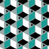 Tumbling Blocks II Print by Myriam Tebbakha
