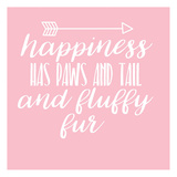 Happiness Paws Pink Posters by Jelena Matic
