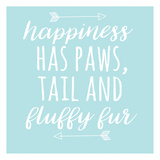 Happiness Paws Blue Art by Jelena Matic