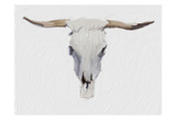 Alabaster Cow Skull Posters by Sarah Butcher