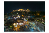 Greece Athens Acropolis Night 2 Poster by Vladimir Kostka