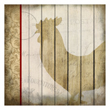 Damask Rooster 1 Print by Kimberly Allen