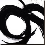 Circular Strokes II Stretched Canvas Print by Megan Morris
