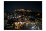 Greece Athens Acropolis Night 1 Prints by Vladimir Kostka
