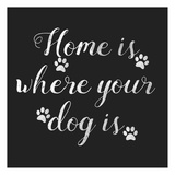 Home Is Where Dog Is Prints by Jelena Matic