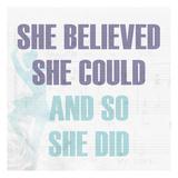 She Believed 2 Láminas por Kimberly Allen